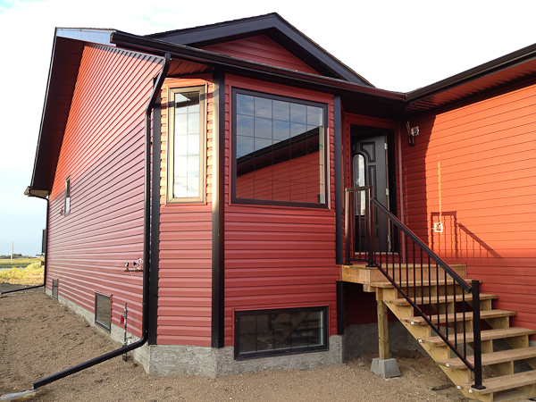 A house built in Blackfoot by Dasher Construction.