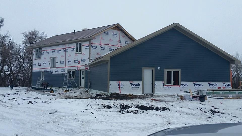 Exterior finishing work by Dasher Construction.