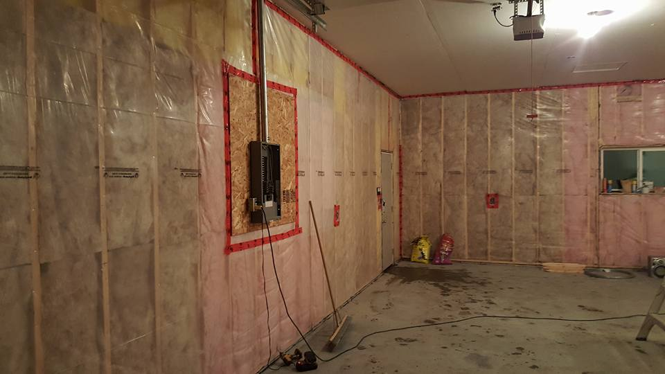 Poly and drywall construction project
