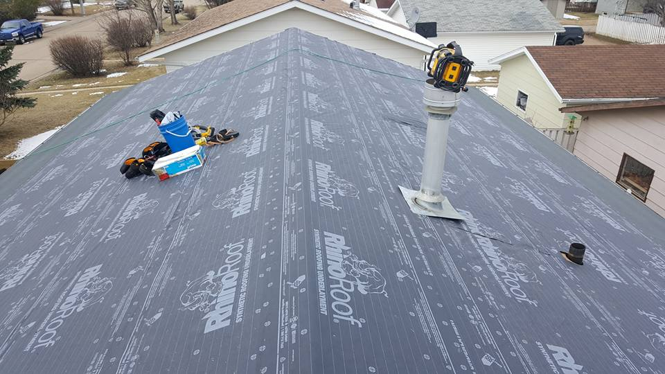 Roofing prep work by Dasher Construction in Wainwright
