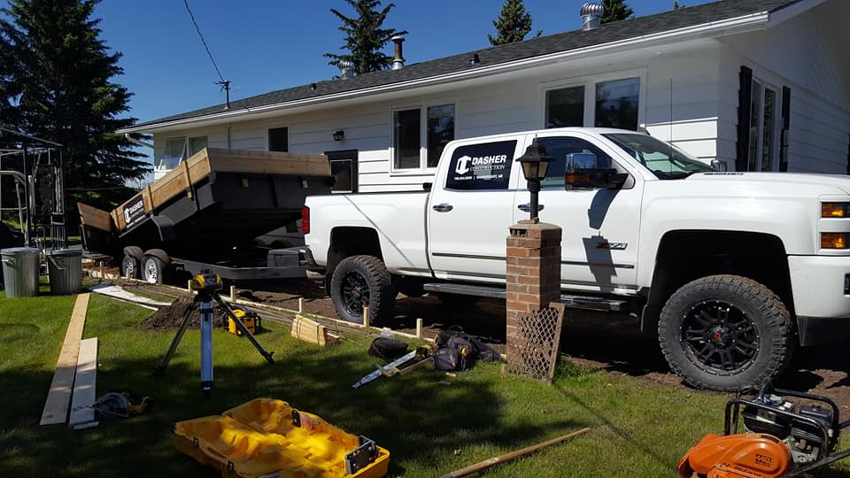Dasher Construction replacing a concrete pad