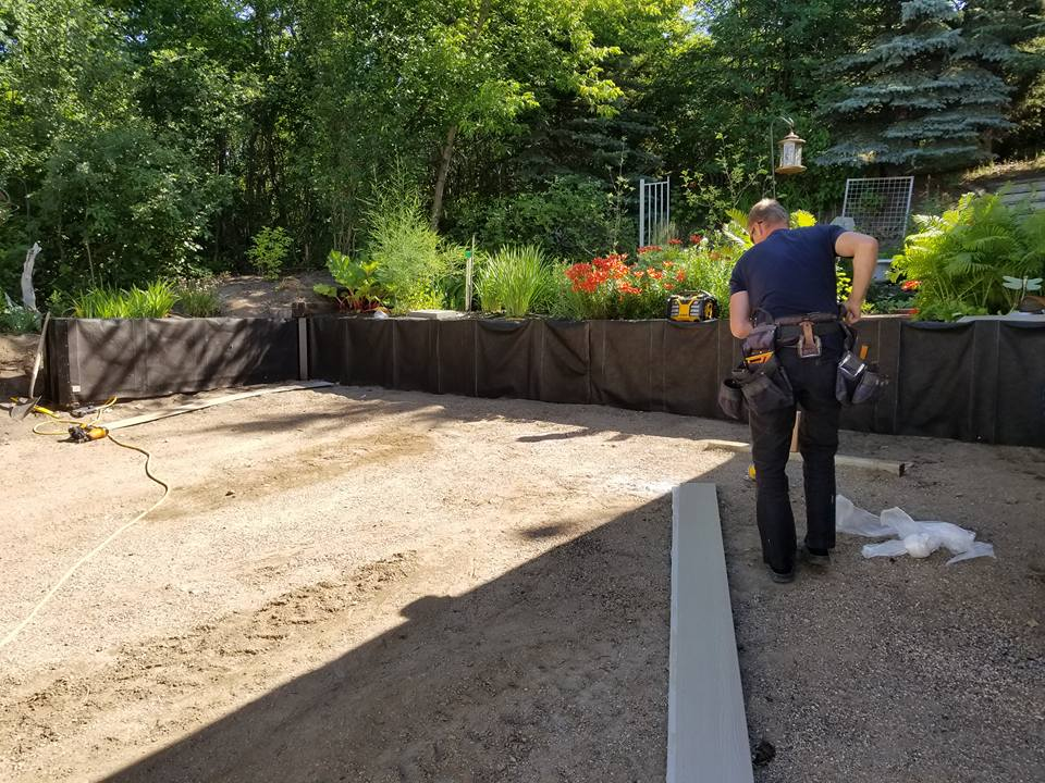 Retaining wall repair by Dasher Construction company