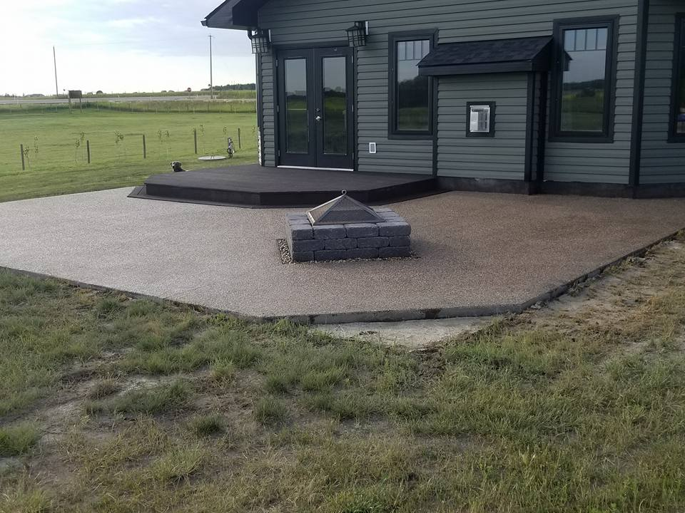 Aggregate pad and deck by Dasher Construction