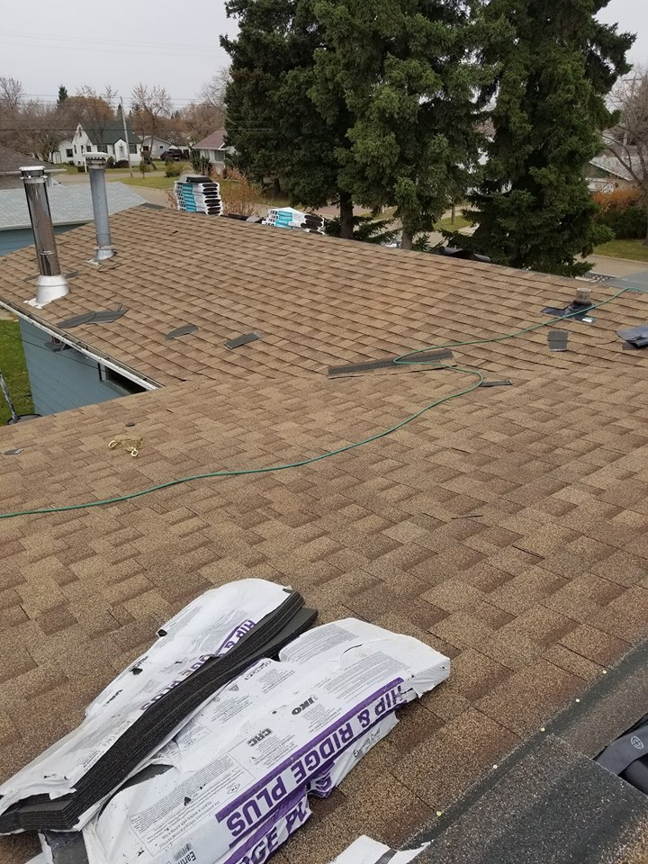 Roofing and shingles done by Dasher Construction