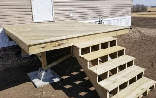 Dasher can build all sizes of decks