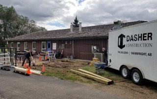 Dasher Construction working at the Wainwright Golf Course